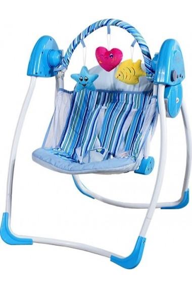 Balancelle électrique automatique Coeur bleu
