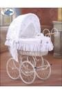 Berceau bébé Vintage Rétro osier - Blanc