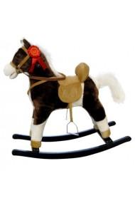 Cheval à Bascule Mustang brun foncé