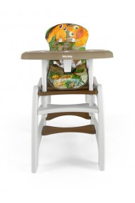 Chaise haute transformable en table et chaise Jungle