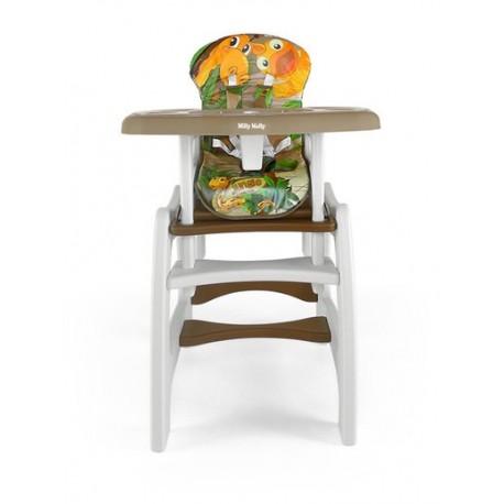 Chaise haute transformable en table et chaise Jungle