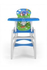 Chaise haute transformable en table et chaise Car