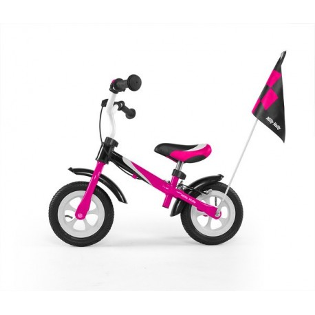 DRAGON DELUXE AVEC FREIN ROSE - vélo sans pédales