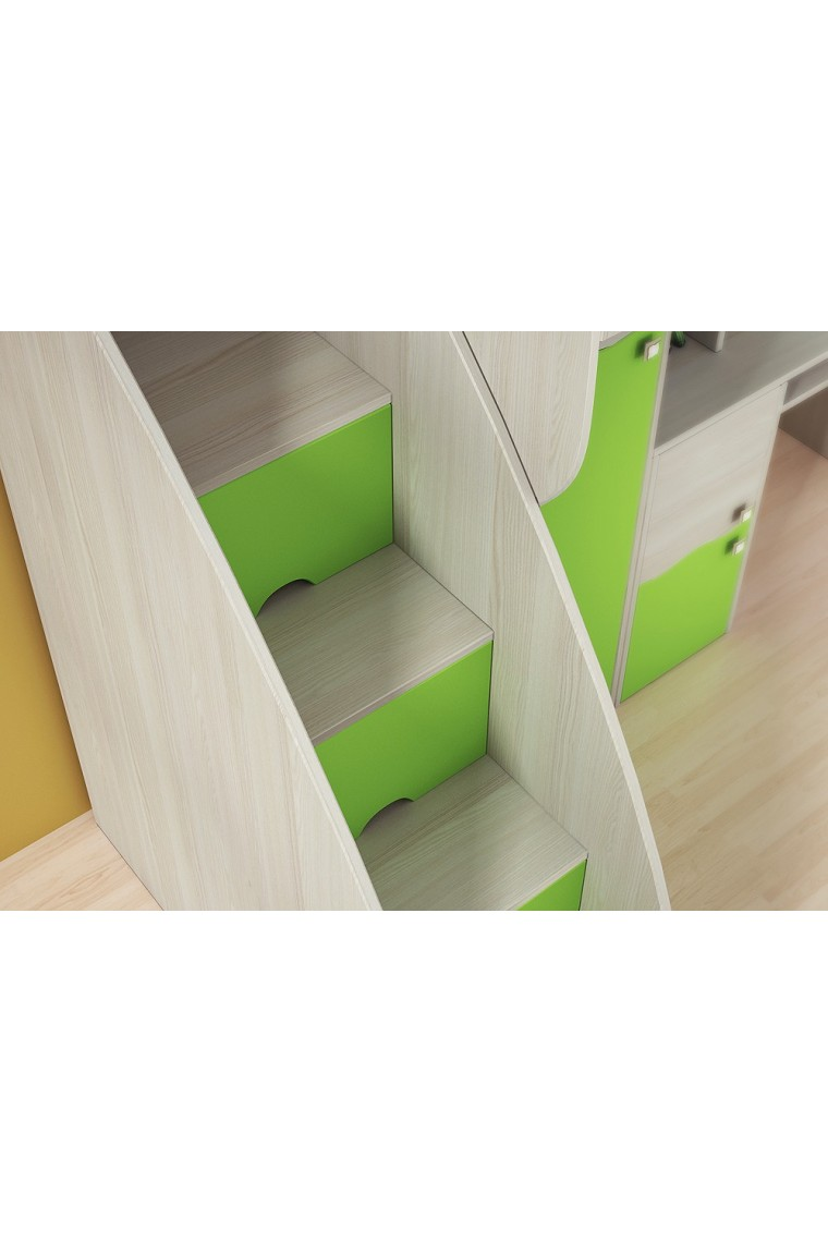 simple lit superpos rose conte xcm with lit mezzanine escalier tiroir. Black Bedroom Furniture Sets. Home Design Ideas