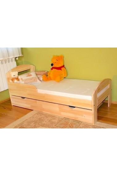 Lit en bois de pin massif tim2 avec tiroir 180x80 cm - Lit en pin avec tiroir ...