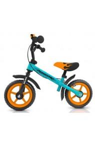 DRAGON AVEC FREIN BLEU-ORANGE - vélo sans pédales