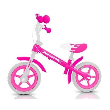 DRAGON AVEC FREIN ROSE - vélo sans pédales
