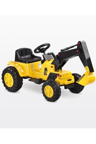 Voiture électrique Digger Pelleteuse jaune