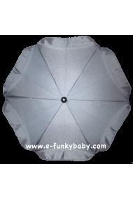 Ombrelle pour poussette universelle gris