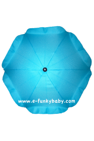 Ombrelle pour poussette universelle bleue