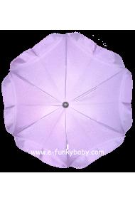 Ombrelle pour poussette universelle violette