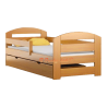 Lit en bois de pin Kam3 avec tiroir 160 x 70 cm