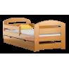 Lit en bois de pin Kam3 avec tiroir 160 x 80 cm