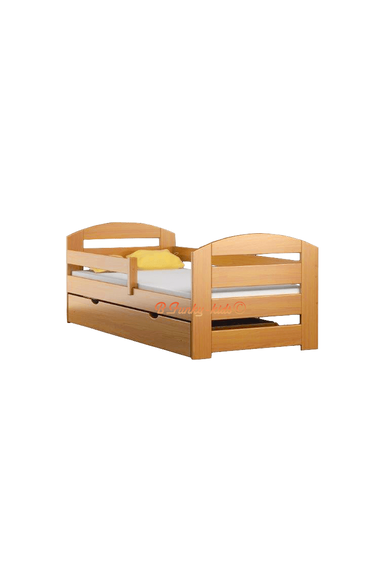 Lit en bois de pin massif kam3 avec tiroir 180x80 cm - Lit bois massif tiroir ...