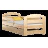 Lit en bois de pin Kam3 avec tiroir 180 x 80 cm