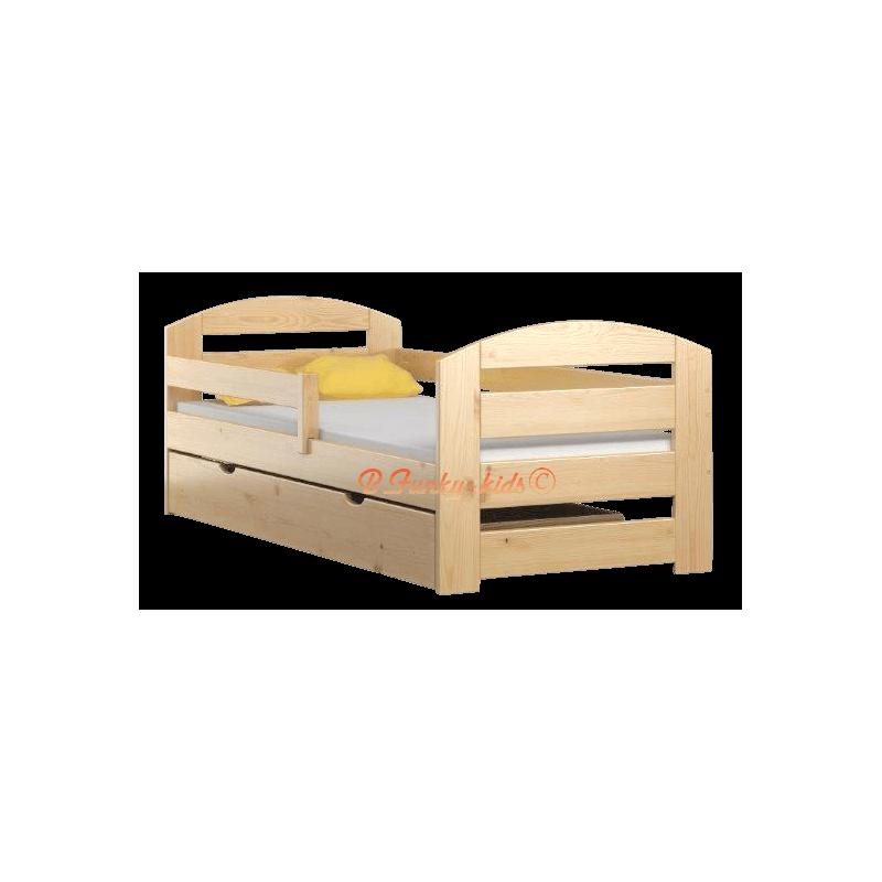 Lit en bois de pin massif kam3 avec tiroir 180x80 cm - Lit en pin avec tiroir ...