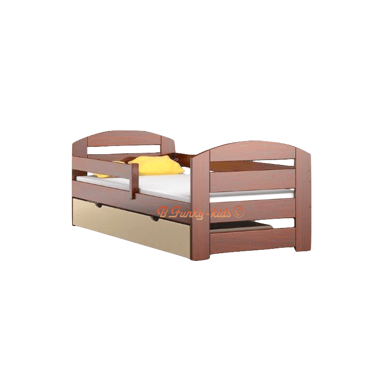 Lit en bois de pin massif kam3 avec tiroir 180x80 cm - Lit en bois avec tiroir ...