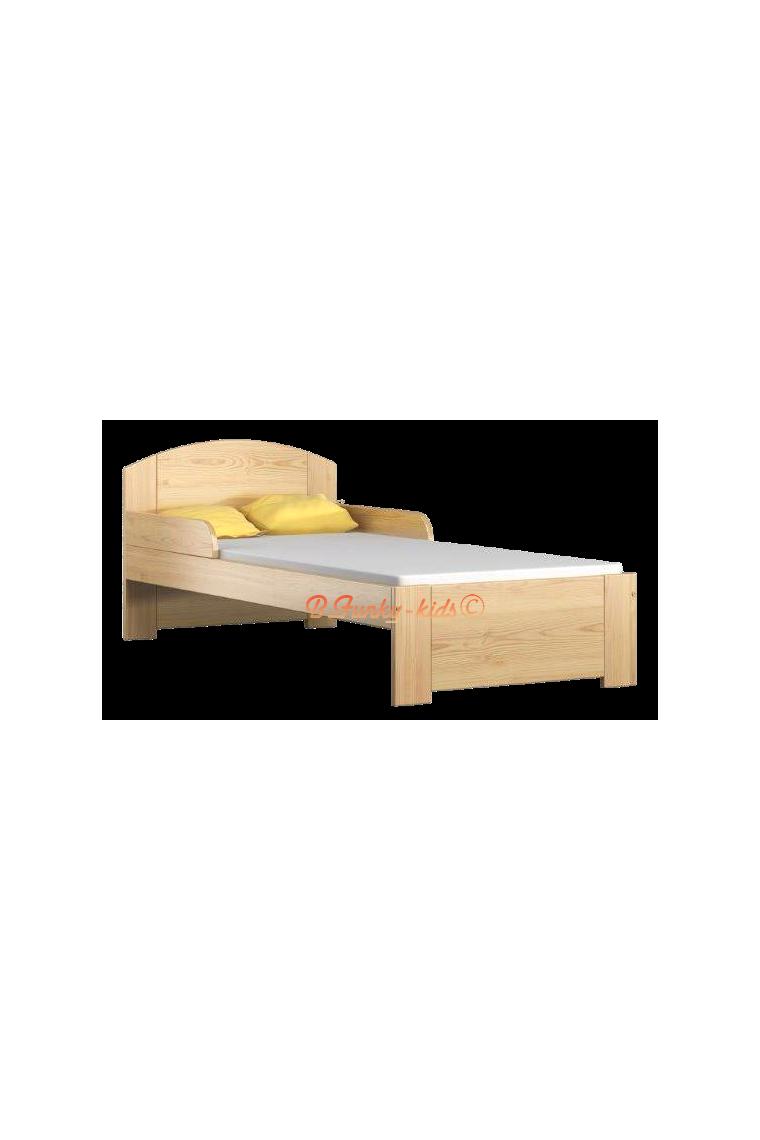 Lit en bois de pin massif avec tiroir bil1 180x80 cm - Lit en pin avec tiroir ...