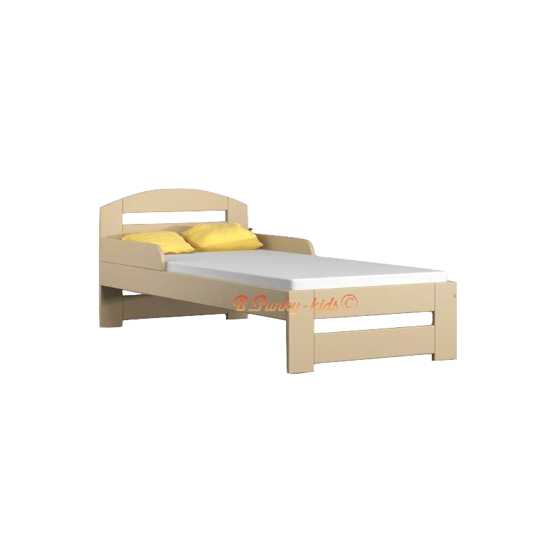 Lit enfant en bois de pin massif tim1 avec tiroir 160 x 80 cm - Lit bois massif tiroir ...