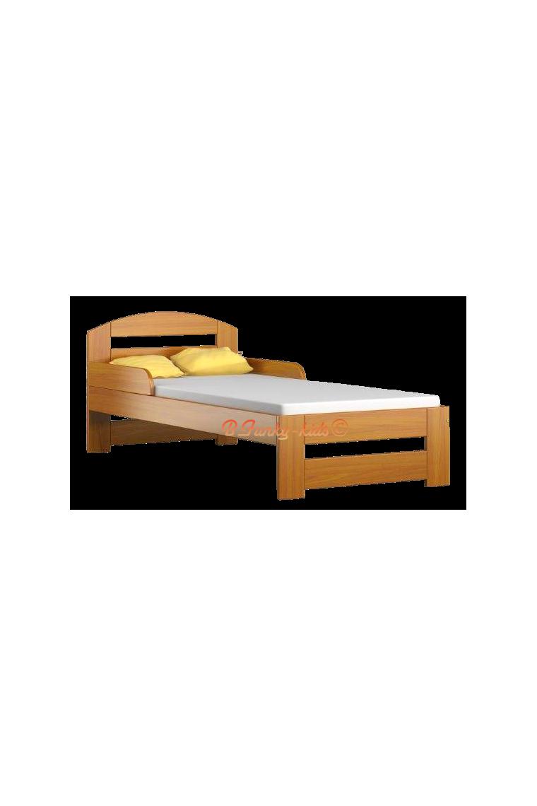 Lit enfant en bois de pin massif tim1 avec tiroir 160x70 cm - Lit en pin avec tiroir ...