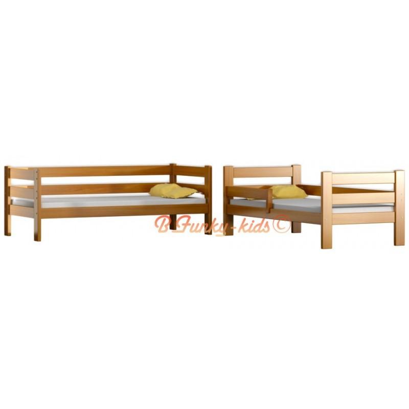 Lit superpos en bois massif casper 180x80 cm - Lits superposes bois massif ...