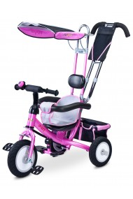 Tricycle evolutif fille Derby rose