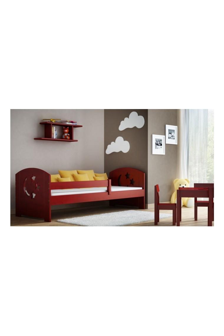 Lit enfant en bois de pin massif molly avec tiroir 160x70 cm - Lit en bois avec tiroir ...