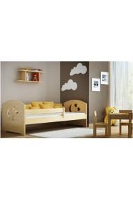 Lit enfant en bois de pin massif Molly avec tiroir 160x70 cm