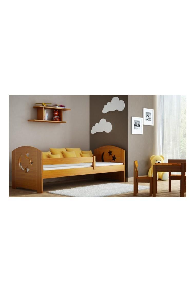Lit en bois de pin massif molly avec tiroir 180x80 cm - Lit en bois avec tiroir ...