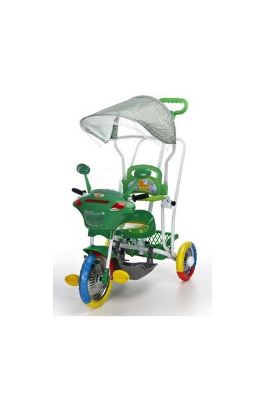 Tricycle Motocyclette vert