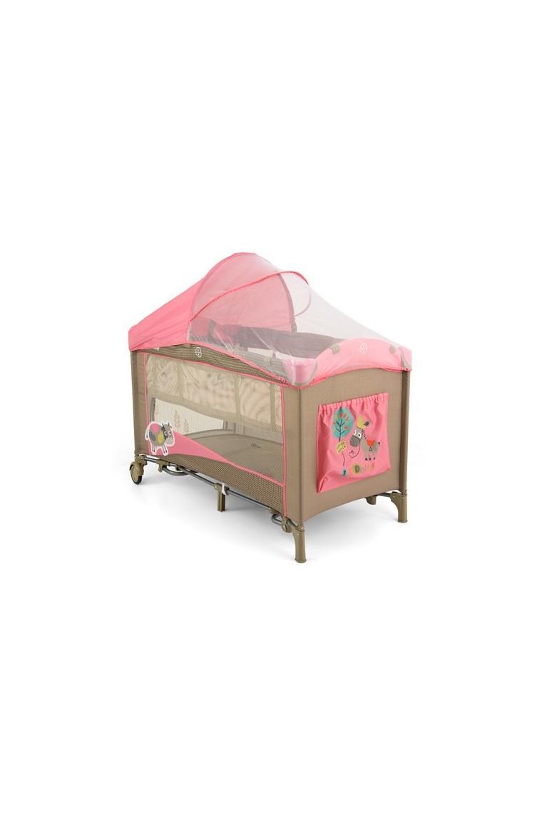 Lit parapluie avec table langer mirage vache rose - Lit avec table a langer ...