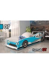 Lit voiture Formule GT avec matelas 160x80