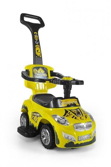 Porteur voiture 3 en 1 HAPPY jaune