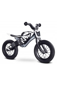 Enduro blanc-noir draisienne bois de vélo sans pédales