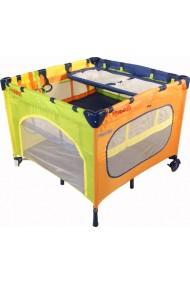 Parc bébé carré et lit voyage double jumeaux 2 en 1 Arc