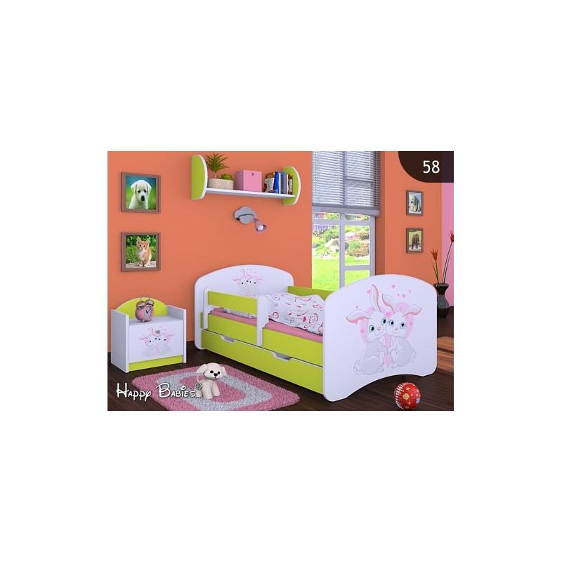 Lit enfant happy vert collection avec tiroir et matelas - Lit avec tiroir matelas ...