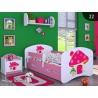 Lit enfant Happy Rose Collection avec tiroir et matelas 140x70 cm