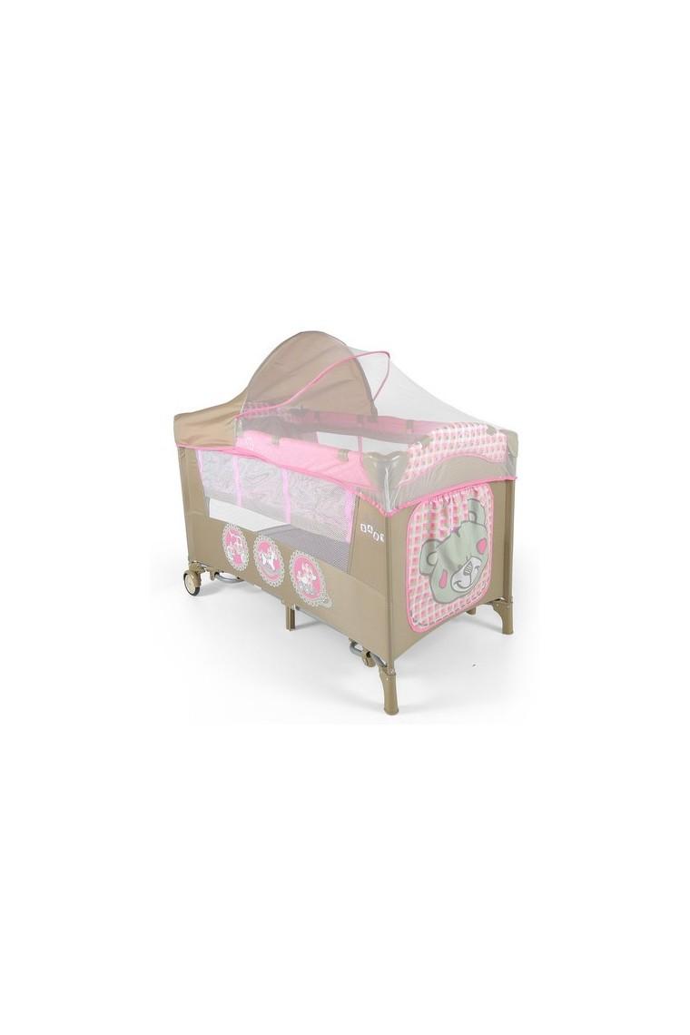 Lit parapluie avec table langer mirage jouets roses - Lit avec table a langer ...