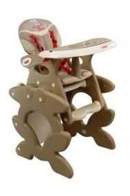 Chaise haute transformable en table et chaise café