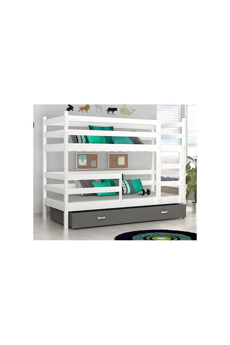 lit superpos john avec tiroir 180x80 cm. Black Bedroom Furniture Sets. Home Design Ideas
