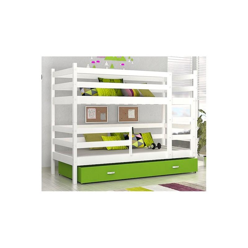 matelas tiroir lit 90 x 180 lit superpos en bois massif. Black Bedroom Furniture Sets. Home Design Ideas