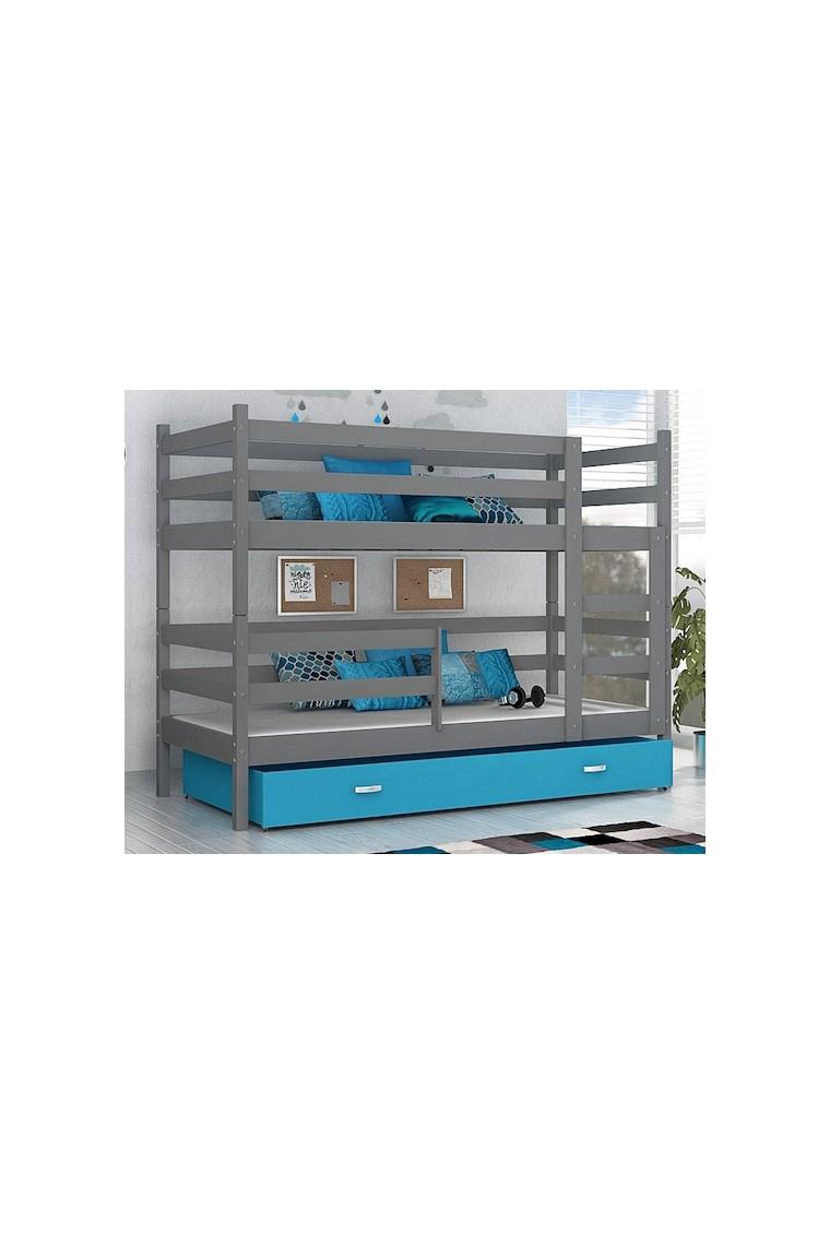 Lit superpos john avec matelas et tiroir 180x80 cm - Matelas pour lit mezzanine ...