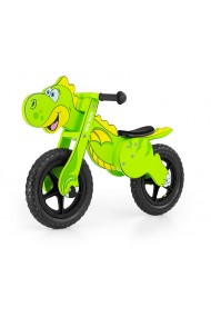 Dino vert - draisienne bois de vélo sans pédales
