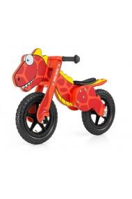 Dino rouge - draisienne bois de vélo sans pédales