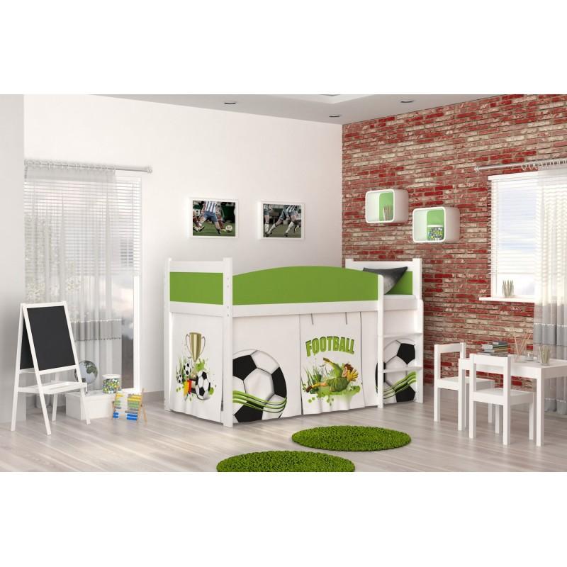 rideau lit mezzanine maison design. Black Bedroom Furniture Sets. Home Design Ideas
