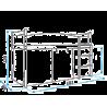 Lit mezzanine surélevé Laboratoire avec matelas et rideau