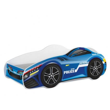 Lit voiture avec matelas 140x70 cm