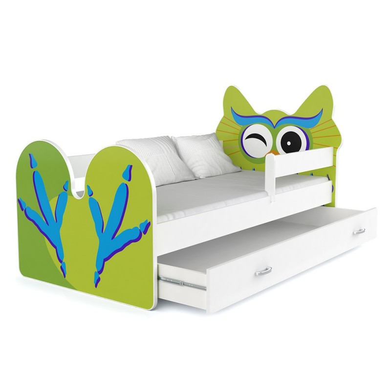 lit enfant hibou avec tiroir. Black Bedroom Furniture Sets. Home Design Ideas