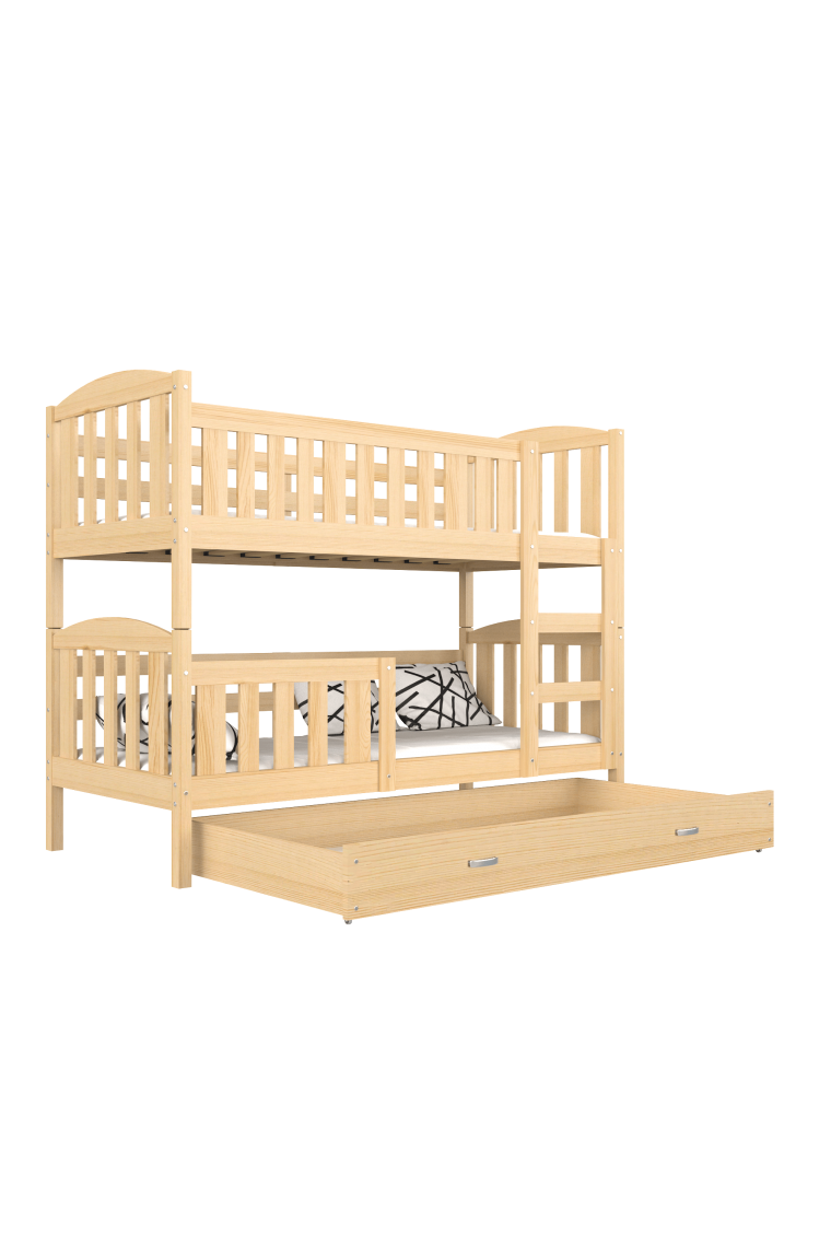 lit superpos en bois massif jacob 2 avec tiroir 190x80 cm. Black Bedroom Furniture Sets. Home Design Ideas