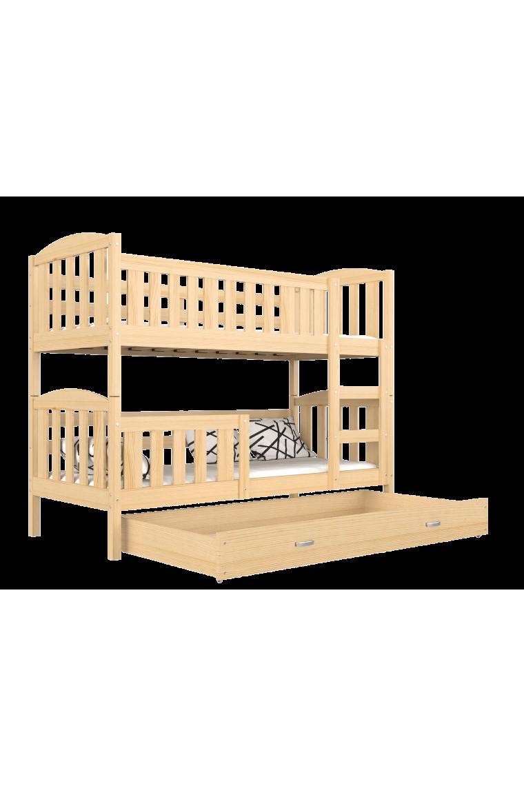 lit superpos en bois massif jacob 2 avec tiroir 160x80 cm. Black Bedroom Furniture Sets. Home Design Ideas